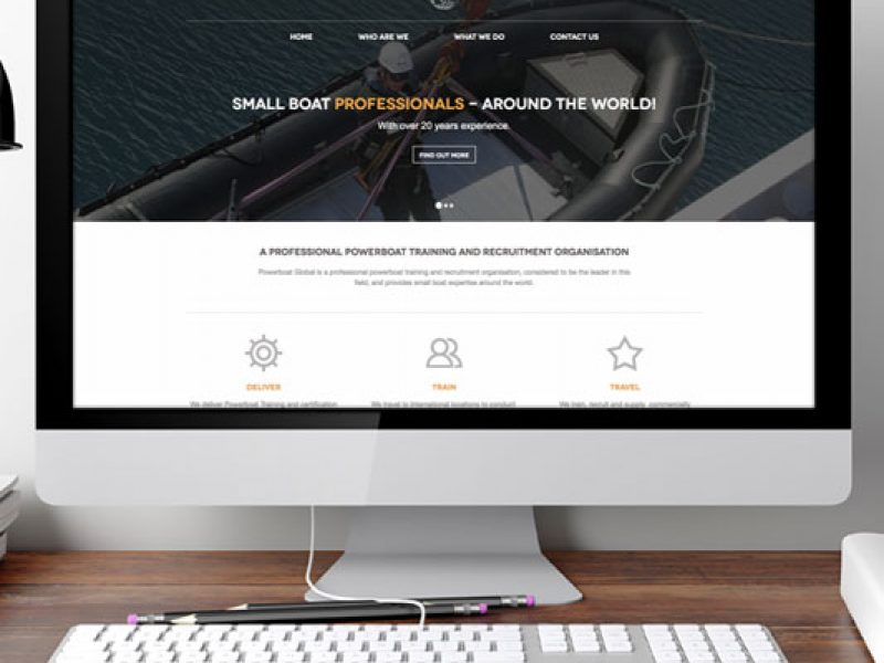 Powerboat Global website design