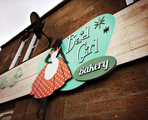 Bad Girl Bakery Signage